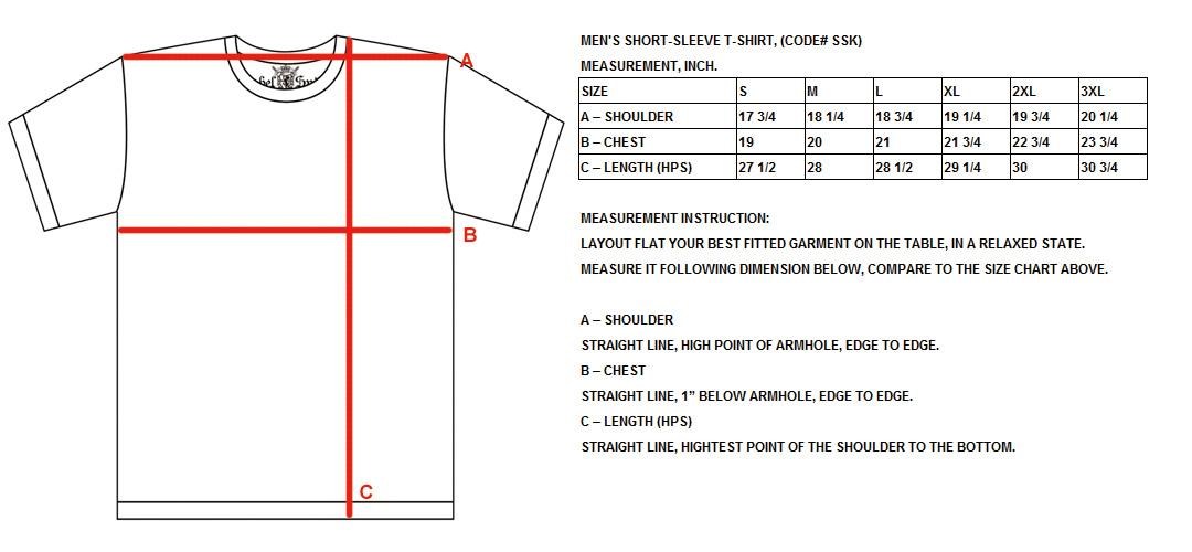 t shirt size chart for men: Ssk spec jpg